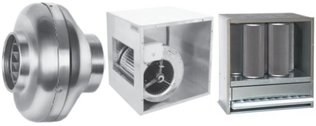 Caissons d 39 extraction de hotte - Ventilateur de cuisine ...